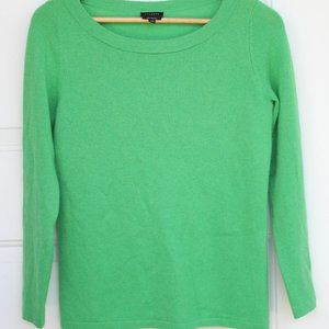 100% Cashmere Kelly Green Talbot's Sweater